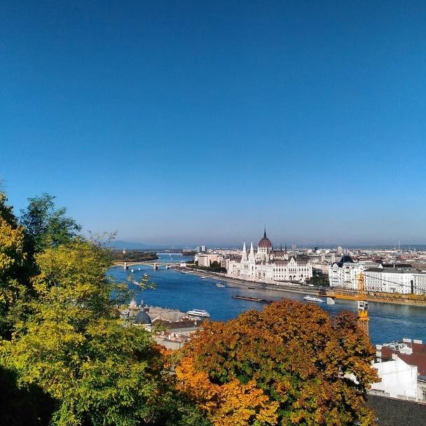 ブダペストのお城からの眺め