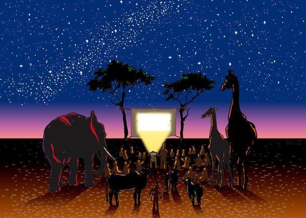 「アフリカ星空映画館 cinema stars」子どもたちのための移動映画館プロジェクト