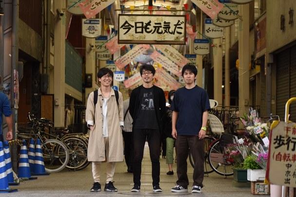 左から〜小野友資、田中誠一、宮迫憲彦