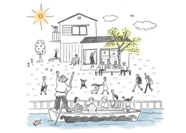 """水のまち、福岡県柳川市に、""""まちのリビング""""のようなゲストハウスをつくる!"""