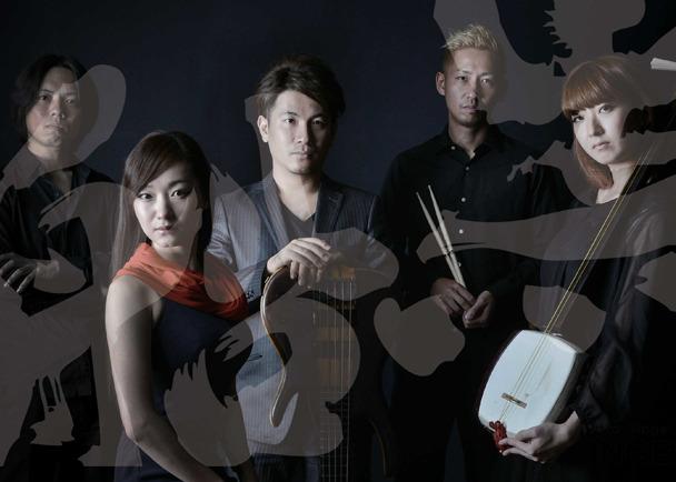 日本の伝統芸能である津軽三味線と島唄が融合したジャズバンド黒船のCDを制作します