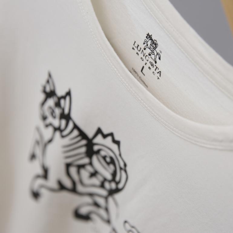オーガニックコットンのルンタオリジナルTシャツ(白・フリーサイズ)
