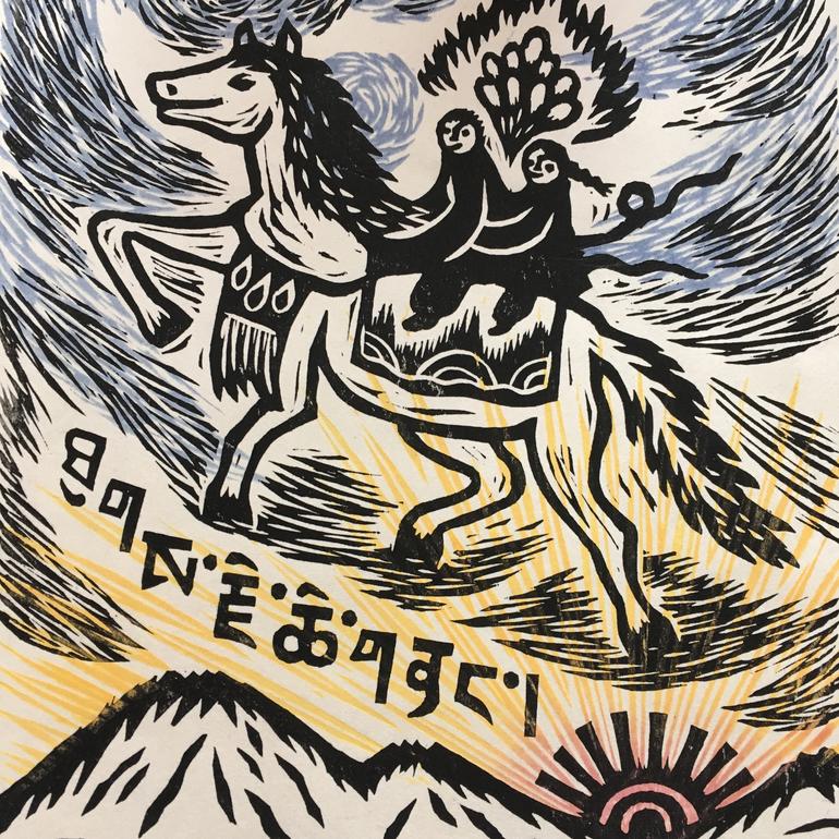 木版画家で絵本作家の山福朱美さんオリジナル版画