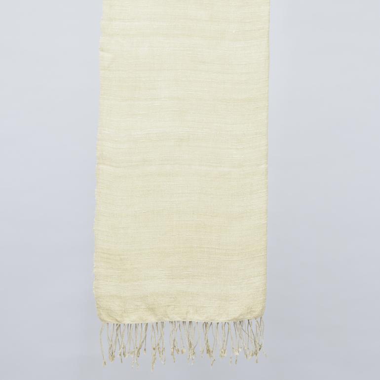 アヒンサーシルク手紡ぎ手織りストール