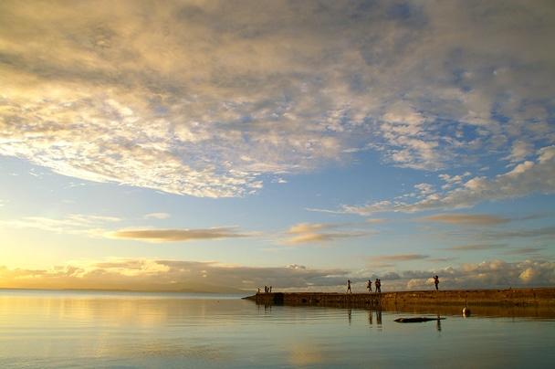 竹富島「西桟橋の夕日」