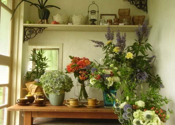 琵琶湖岸の田園地帯にサロンとしてもくつろげるパリ風花アトリエをつくる
