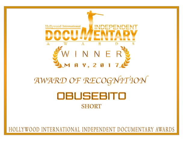 Hollywood International Independent Documentary Awardsで「AWARD OF RECOGNITION」を受賞