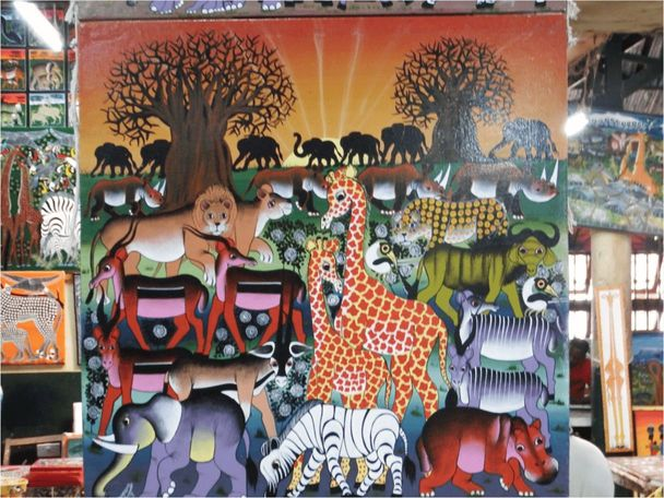 タンザニアの伝統アート「ティンガティンガ」