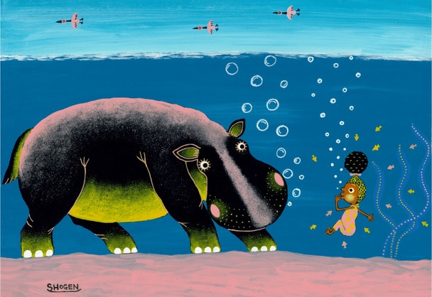 カバとの潜水対決