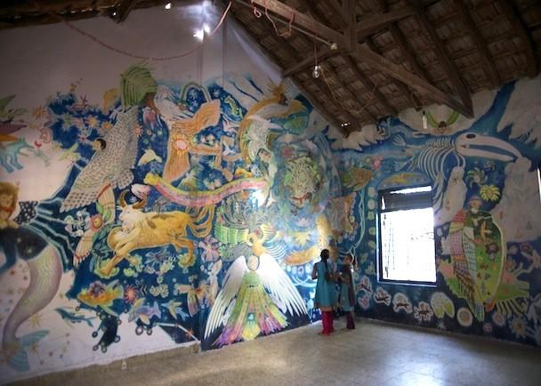 アートの力でインド農村部の教育支援「ウォールアートフェスティバル2014」