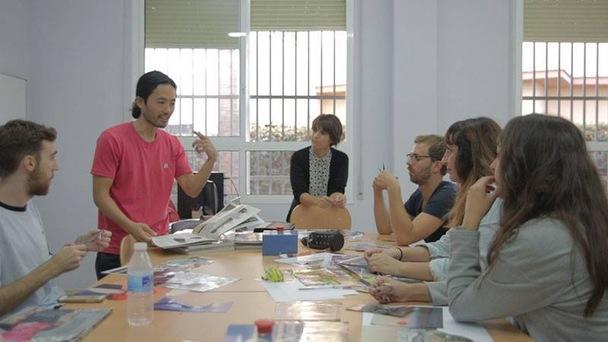 コラージュワークショップ サンテルモ美術学校 マラガ スペイン 2015